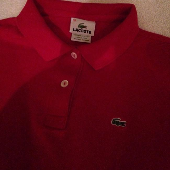 Lacoste T Shirt Red Image 5