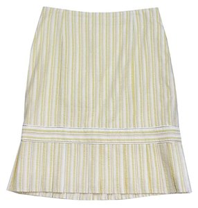 Nanette Lepore Yellow Cream Striped Skirt