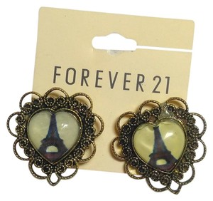 Forever 21 New Beige & Brass Forever 21 Eiffel Tower Stud Earrings J2798