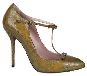 Gucci Crackled Metallic Leather Bronze/8200 Pumps
