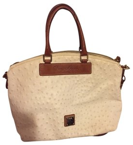 Dooney & Bourke Satchel in White And Tan