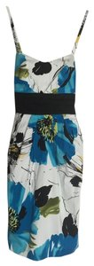 IZ Byer California short dress Black, white, blue, olive, and honey yellow on Tradesy