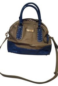 Kate Landry Satchel in Blue/tan