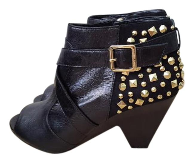 Item - Black and Gold Suede With Boots/Booties Size US 8 Regular (M, B)