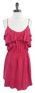 Rebecca Taylor short dress Pink Sequined Ruffle Silk on Tradesy