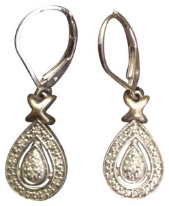 Sterling silver Tear Drop Earrings Sterling Silver Tear Drop Earrings