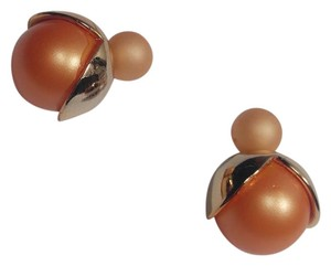Other New Orange & Gold Double Sided Round Stud Earrings J2800