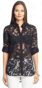 Ideology Top Black Lace