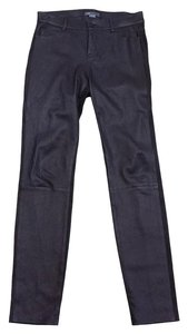 Vince Brown Suede Leather Skinny Pants