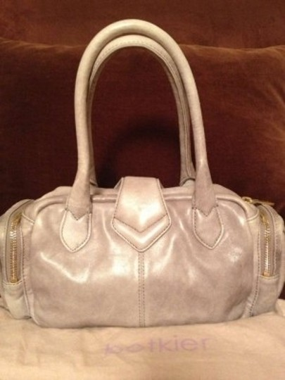 Botkier Leather Satchel Designer Tote in Light Grey