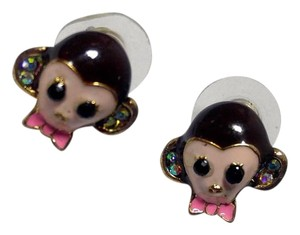Betsey Johnson Betsey Johnson Monkey Stud Earrings J2801