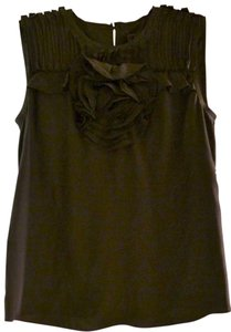 bebe Silk Top Black