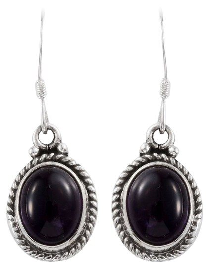 Unknown Artisan Crafted Amethyst Earrings