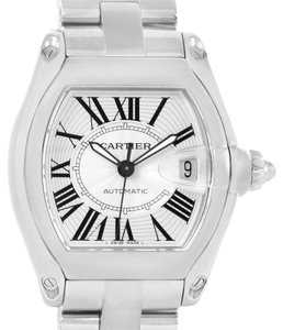 Cartier Cartier Roadster Mens Automatic Steel Silver Dial Watch W62025V3