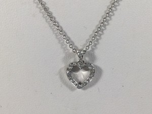 Tiffany & Co. Tiffany & Co Platinum Diamond Pave Heart Pendant Chain Necklace