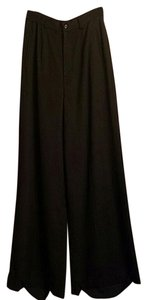 Ralph Lauren Label High Waisted Wide Leg Pants black