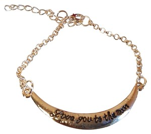 Love you to the Moon Gold Plated Fashion Bracelet