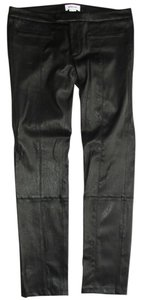 Helmut Lang Leggings Leather Capris Black