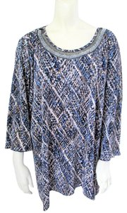 CJ Banks Beaded Embellished Plus-size Top Multi-Color
