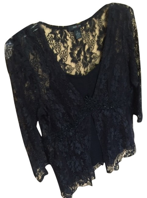 Preload https://img-static.tradesy.com/item/1812255/style-and-co-black-lace-sizem-cocktail-night-out-top-size-8-m-0-0-650-650.jpg