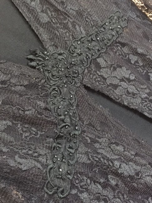 Style & Co Mid Sleeve Top BLACK LACE Image 3