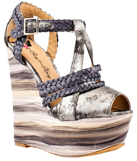 Penny Loves Kenny Pewter Wedges