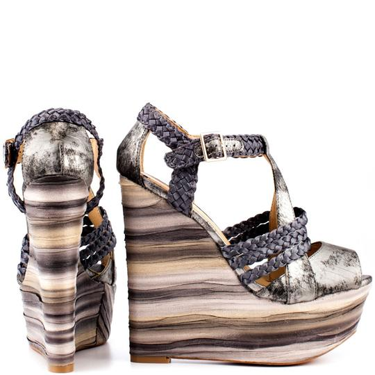 Penny Loves Kenny Pewter Wedges Image 1
