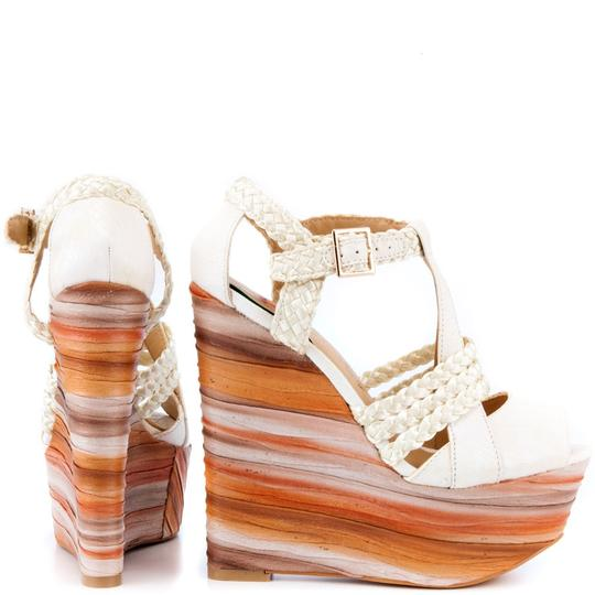 Penny Loves Kenny White Wedges Image 1