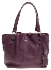 Tod's Tods Leather Tote in Purple