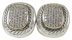 David Yurman David Yurman Sterling Silver 18K Gold 1.00tcw Diamond Albion Earrings