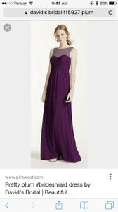 David's Bridal Plum Davids Bridal Dress