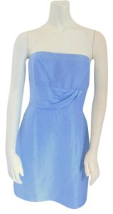 Blue Maxi Dress by Plenty by Tracy Reese Silk Strapless