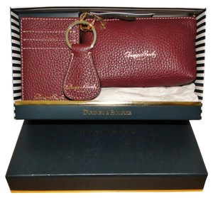 Dooney & Bourke Pebble Leather Bordeaux Boxed Gift Set 3 pc
