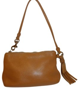 Coach Refurbished Leather Lined Wristlet in Tan