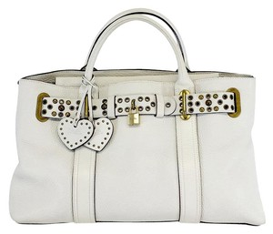 Luella Bartley for Target White Pebbled Leather Shoulder Bag