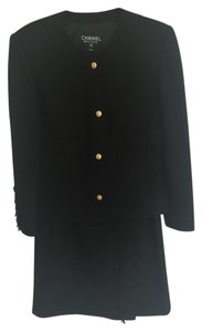 Chanel Iconic Chanel Classic Tweed Wool Little Black Jacket and Skirt Suit