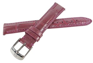 Michele Michele MS16AA50575 16mm Orchid Ice Pink Alligator Watch Strap Band