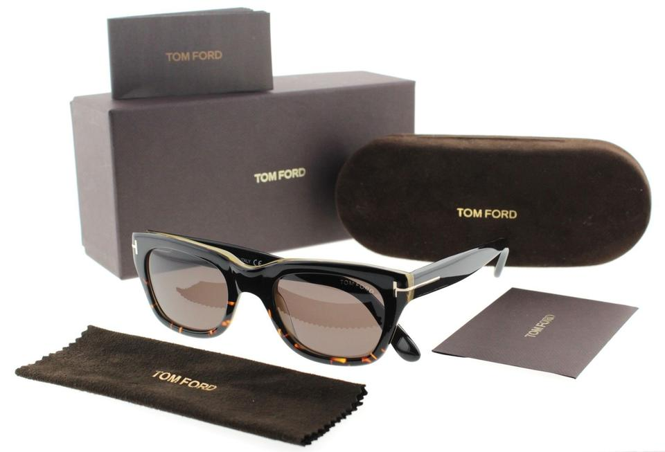 b9aa3f5545 Tom Ford Tom Ford Snowdon Black Havana Brown Gradient Wayfarer Sunglasses.  1234
