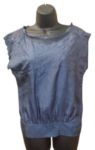 Matty M Silk Top blue