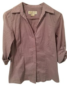 Michael Kors Button Down Shirt Lavender