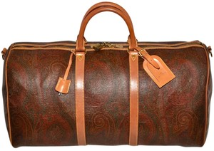 Etro Milano Made In Italy Oxblood Travel Bag