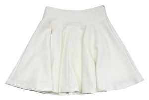 MILLY White Skater Skirt