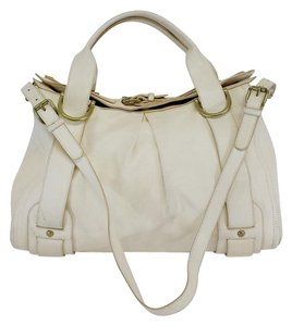 Kooba Cream Leather Shoulder Bag