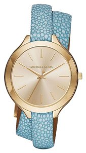 Michael Kors Slim Runway Stingray Wraparound Watch, 42mm