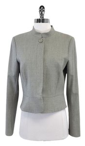 Theory Grey Wool Blend Buttoned Jacket