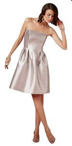 BHLDN Silvery Grey Silk Gazar Coren Moore Courtney Formal Bridesmaid/Mob Dress Size 12 (L)