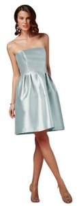BHLDN Ice Blue Silk Gazar Coren Moore Courtney Formal Bridesmaid/Mob Dress Size 8 (M)
