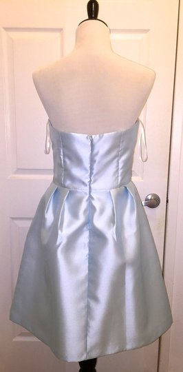 BHLDN Ice Blue Silk Gazar Courtney Coren Moore Formal Bridesmaid/Mob Dress Size 8 (M) Image 2