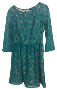 French Connection short dress Turquoise Lace on Tradesy