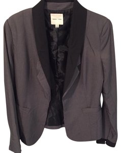 Silence + Noise Silence + Noise Gray Suit Jacket w/ Black Collar and Sleeve Trim